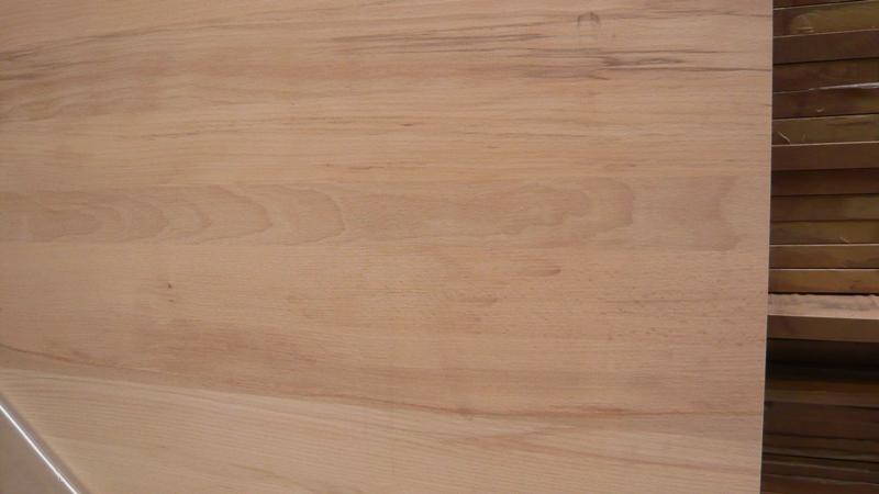 Leimholzplatte Buche durchgehende Lamelle A-AB 19 mm