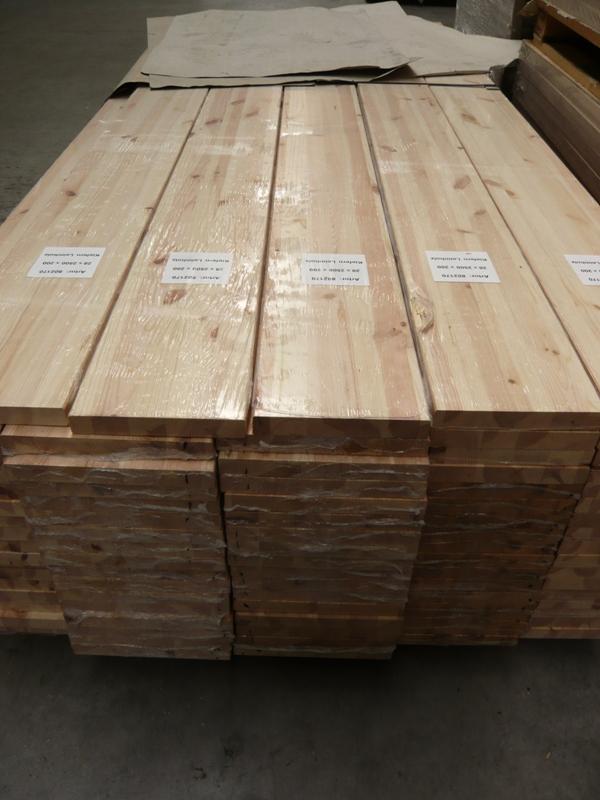 Leimholzplatte Kiefer durchgehende Lamelle A-B 28 mm 200 x 2