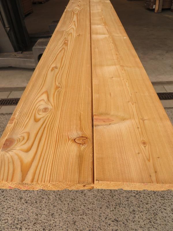 Fasebrett Lärche sibirisch hobelfallend 20 x 146 mm