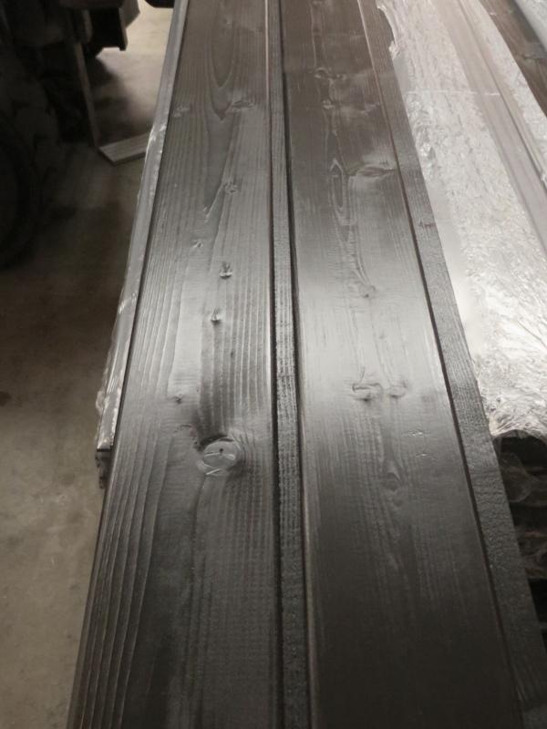 Rundprofil Fichte nordisch schwarz grundiert 14 x 121 mm