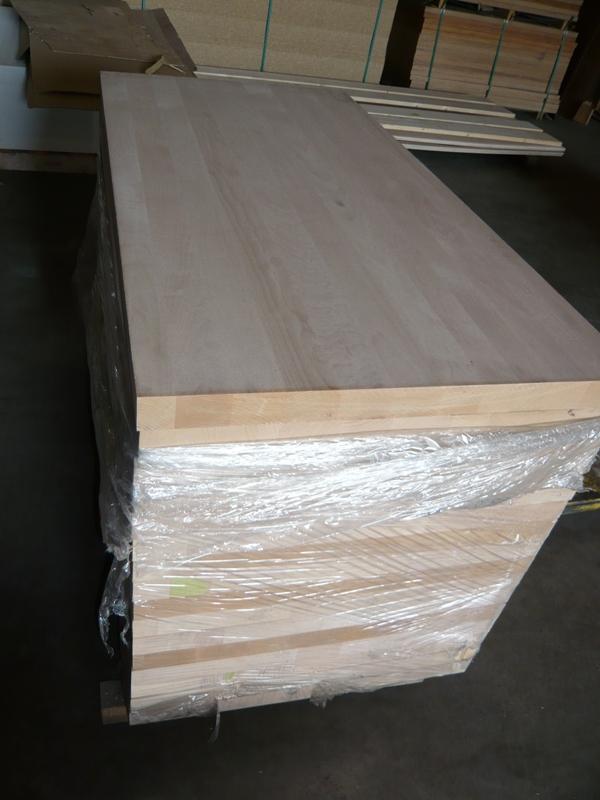 Leimholz Stufenplatte Buche A-B 40 mm