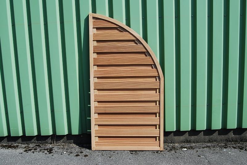 Sichschutzzaun Bangkirai Abschluss viertelrund 180 x 90 cm