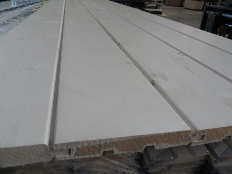 Profilbrett Feinprofil R3 mit U-Fuge Fichte weiß 19 x 121 mm