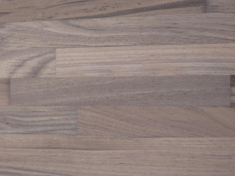 Leimholzplatte Nussbaum Nogal keilgezinkt 25 mm