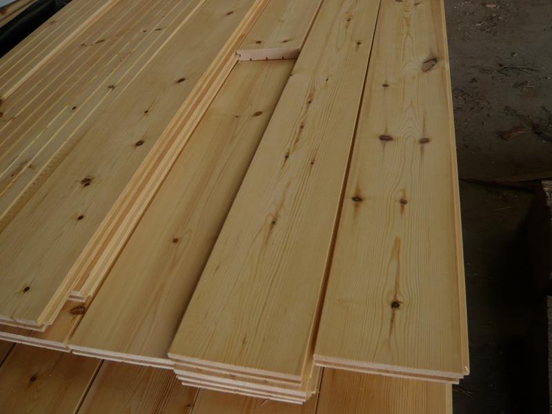 Massivholzdiele Kiefer B Sortierung endlos Verlegung