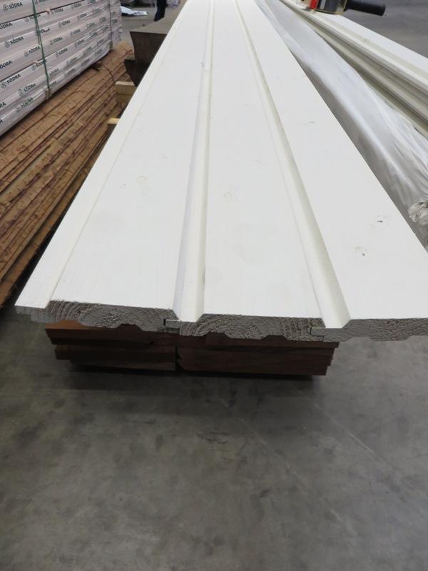 Schrägprofil Fichte nordisch 19 x 96 mm weiß grundiert