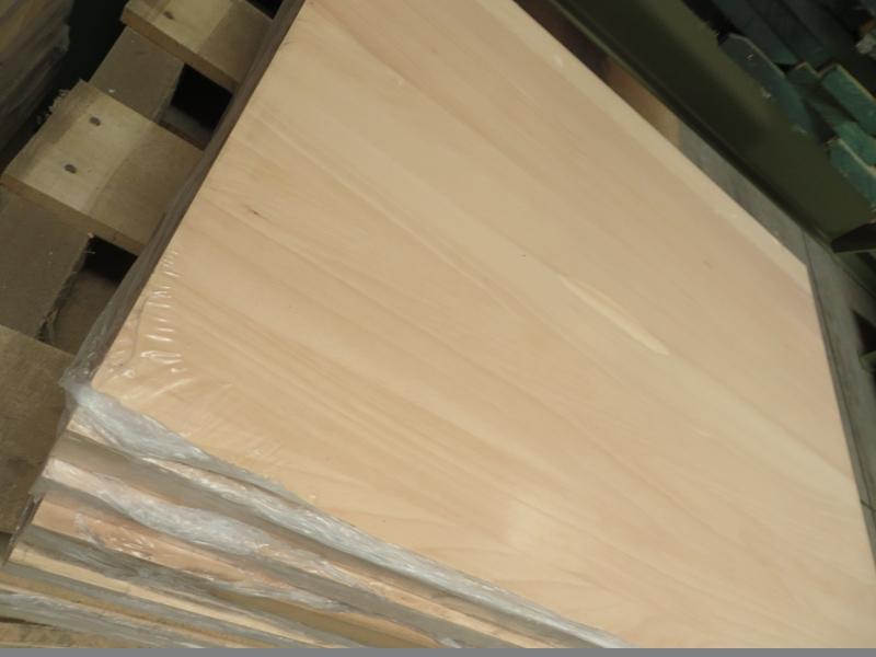 Leimholzplatte Buche durchgehende Lamelle A-B 40 mm
