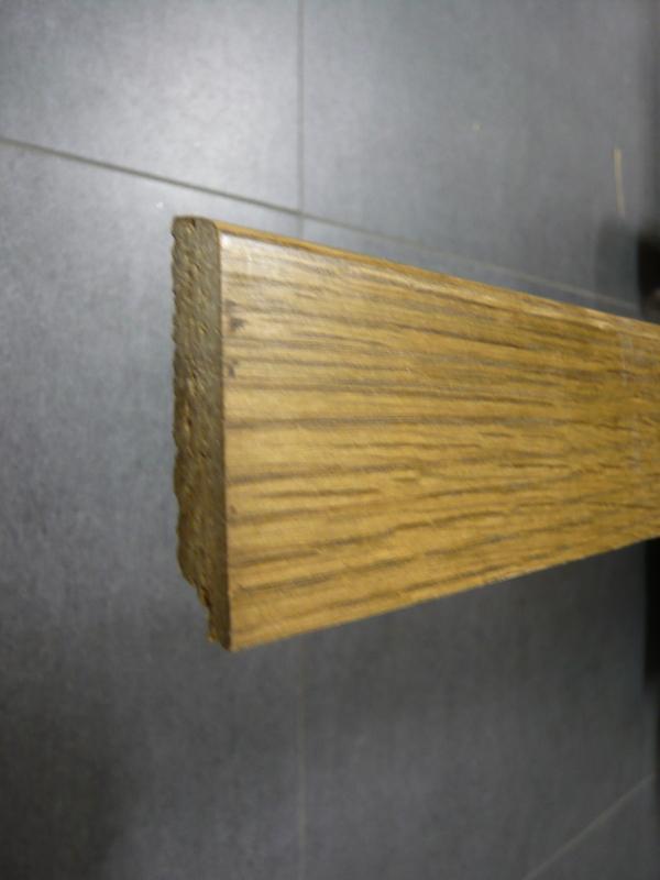Fussleiste Eiche rustikal furniert 13 x 60 mm